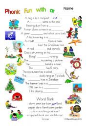 English Worksheets: 3 pages of Phonic Fun with ar: worksheet, story and key (#1)