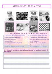 English Worksheet: Video Games