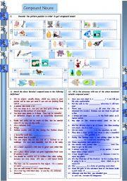 English Worksheets: Compound Nouns