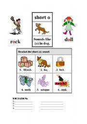 English Worksheets: SHORT O- SHORT U
