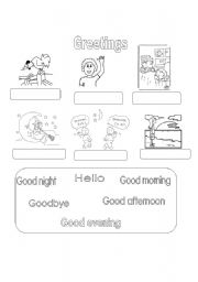 Greetings worksheets english worksheet my first greetings m4hsunfo