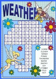 English Worksheet: WEATHER PUZZLE