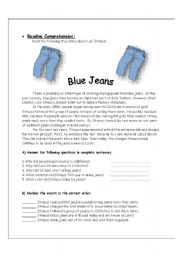 English Worksheets: Blue Jeans