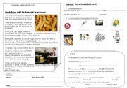 English Worksheet: JUNK FOOD IN ENGLAND (1)