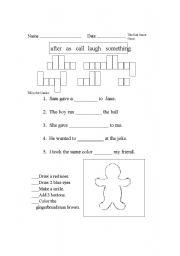 English Worksheets: Word Wall Words
