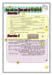 English Worksheet: Have something done, have somebody do, get somebody to do