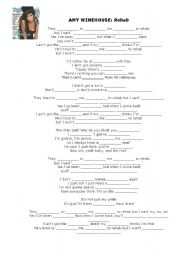 English Worksheets: Rehab by Amy Winehouse