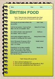 British food. Ways of Cooking.