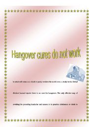 English Worksheets: hangover cures do not work