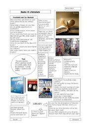 English Worksheets: Books & Literature