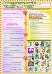 English Worksheet: Making request with