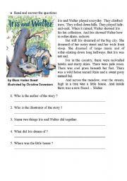 English Worksheets: Iris and Walter