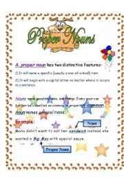 English Worksheets: proper nouns
