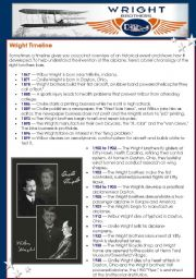 Wright Brothers ( 2 pages ) reading&quiz