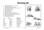 English Worksheets: Showing-off