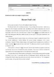 English wtitten test - Environmental issues