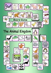 English worksheet: Board Game: The Animal Kingdom