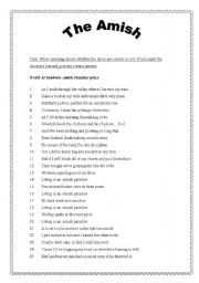 English Worksheet: AMISH PARADISE - error correction