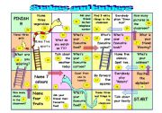 English Worksheet: Snakes and ladders - kids or beginner adults