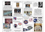 English Worksheet: New York - culture, sport