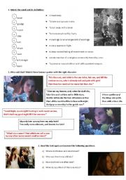 English Worksheet: Romeo and Juliet - the newspaper article! part2