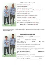 English Worksheet: Comparing two people