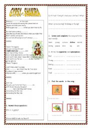 English Worksheet: GYPSY - SHAKIRA