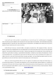 English Worksheet: test on segregation