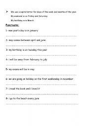 English teaching worksheets: Punctuation