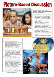 English Worksheet: Picture-Based Discussion (27): Science and Technology