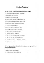 English Worksheets: english revision worksheets