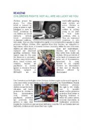 CHILDREN´S RIGHTS READING COMPREHENSION