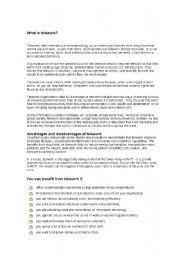 English Worksheets: Telework