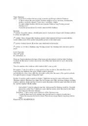 English Worksheets: the Christams lesson Paln