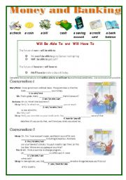 English Worksheet: Money and Banking