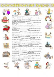 English Worksheet: Conditional clauses type 3