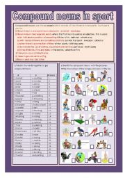 English Worksheets: Compound nouns(with keys )