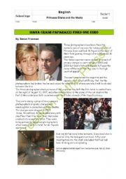 English Worksheet: Written test/oral exam II: Princess Diana and the Media