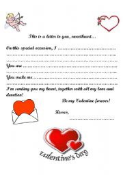 Valentine´s Day Letter
