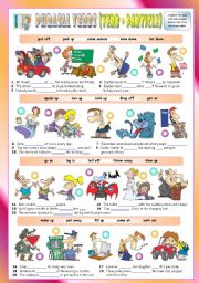 English Worksheets: Phrasal Verbs (Seventh series). Exercises (Part 2/3). Key included!!!