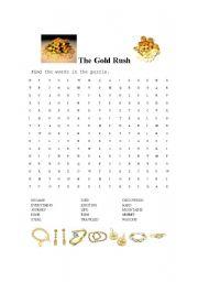 English teaching worksheets: The gold rush