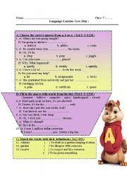 English worksheet: Test