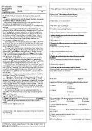 Printables Reading Comprehension Worksheets For Highschool Students Free english teaching worksheets reading comprehension comprehension