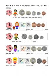 English Worksheet: How much...? 2/2