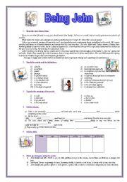 English Worksheets: Being John