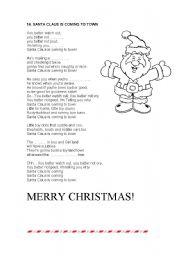 English teaching worksheets: Santa Claus