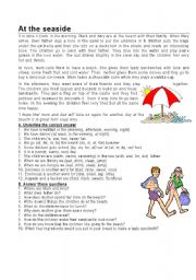 English Worksheet: At the seaside