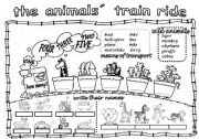 English Worksheet: THE ANIMALS´ TRAIN RIDE