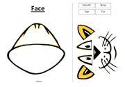 English Worksheets: Animal Face - Worksheet