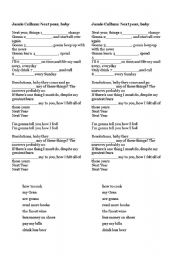 English Worksheet: Future forms- song